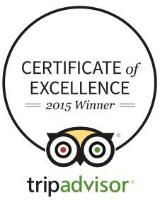 TripAdvisor Awards Us Certificates of Excellence