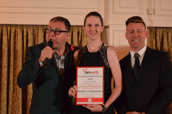 Daytona Tamworth Runner Up in Tamworth Business Awards