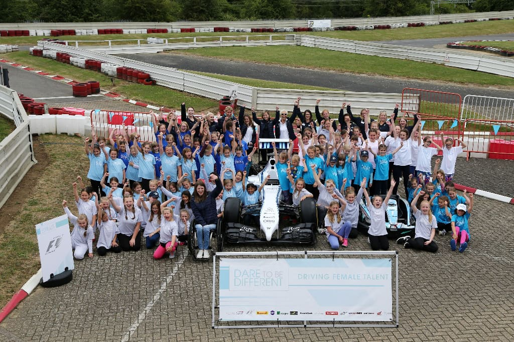 GIRLS OF F1 DARE TO BE DIFFERENT AT DAYTONA MILTON KEYNES