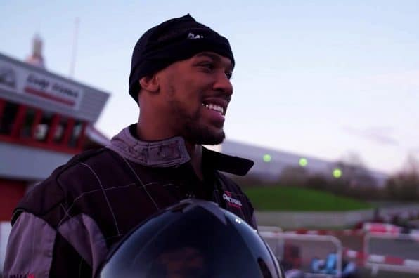 Anthony Joshua drives a DMAX Go-Kart